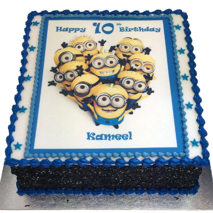 Minnions Birthday Cake