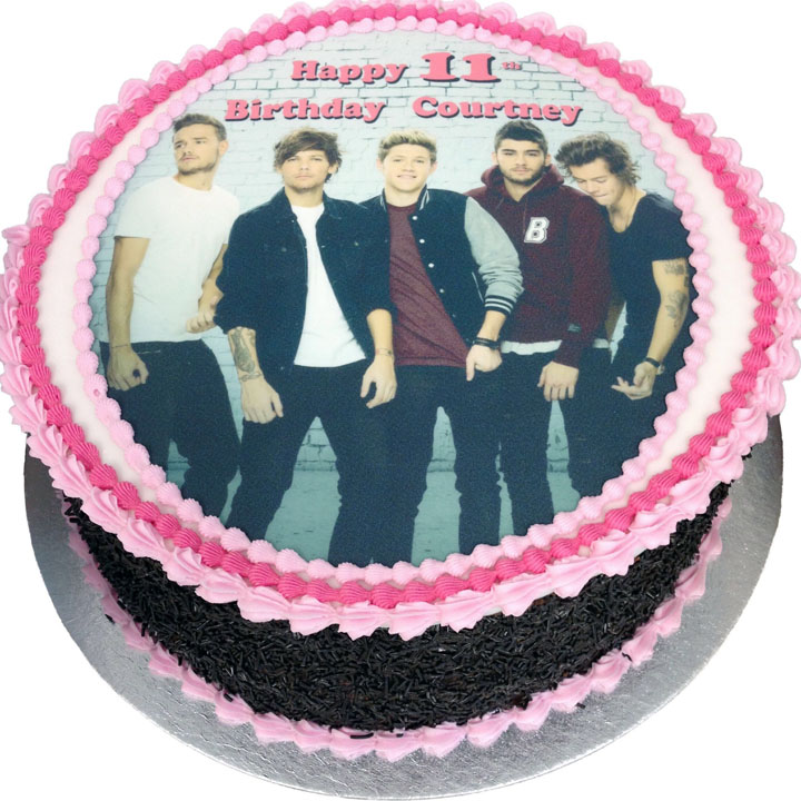 Amazing One Direction Birthday Cake Flecks Cakes Funny Birthday Cards Online Elaedamsfinfo