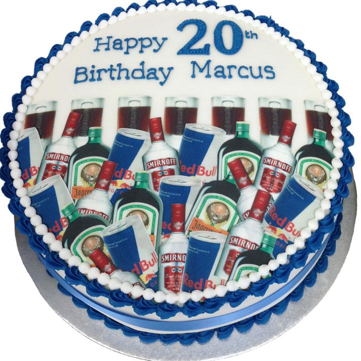 Remarkable Vodka Redbull And Jagarmeister Birthday Cake Flecks Cakes Funny Birthday Cards Online Inifofree Goldxyz