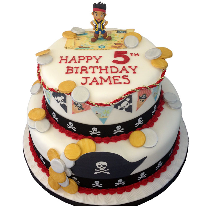 Pirate Theme Birthday Cake
