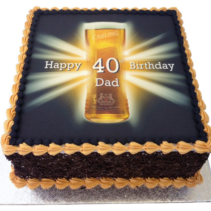 A Pint of Carling Birthday Cake