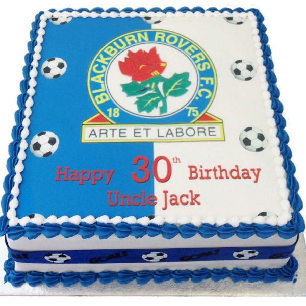 Football Badge Birthday Cake