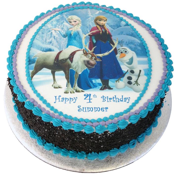 Tremendous Frozen Birthday Cake Flecks Cakes Personalised Birthday Cards Paralily Jamesorg