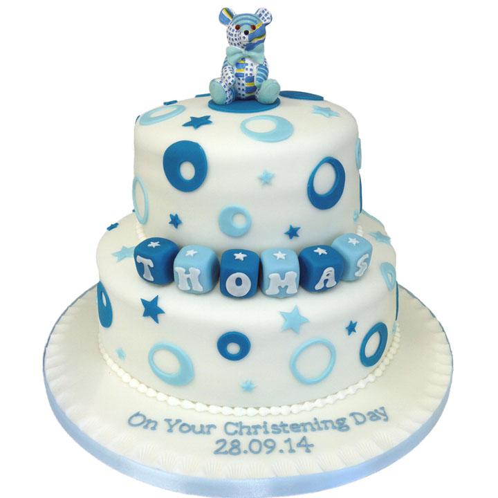 Stars and Circles Cake