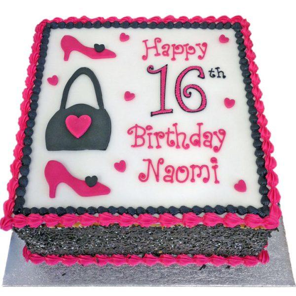 Shoes and Handbag Birthday Cake