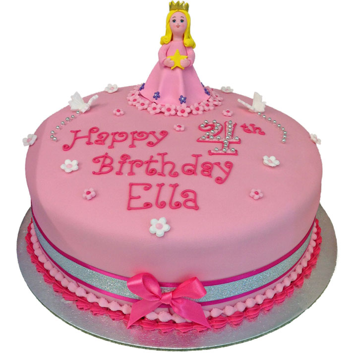 Pink Princess Birthday Cake Flecks Cakes