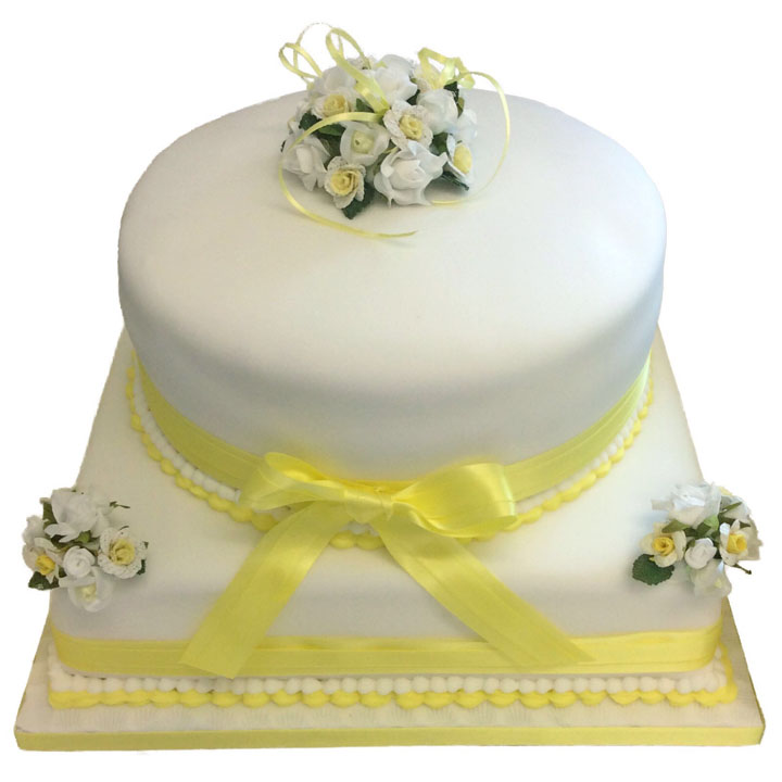 Two Tier Cake with Flower Posy