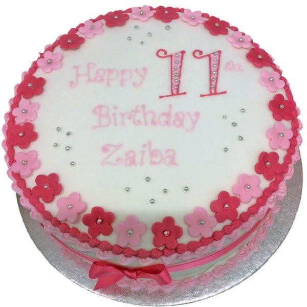 Blossom Edge Birthday Cake