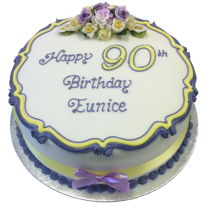 Traditional Flowers Birthday Cake