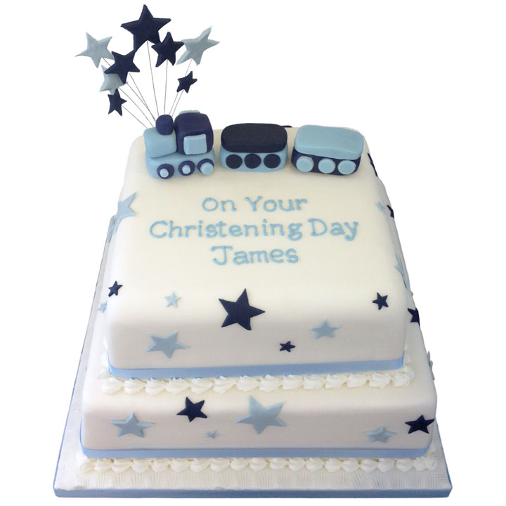Stars & Train Cake