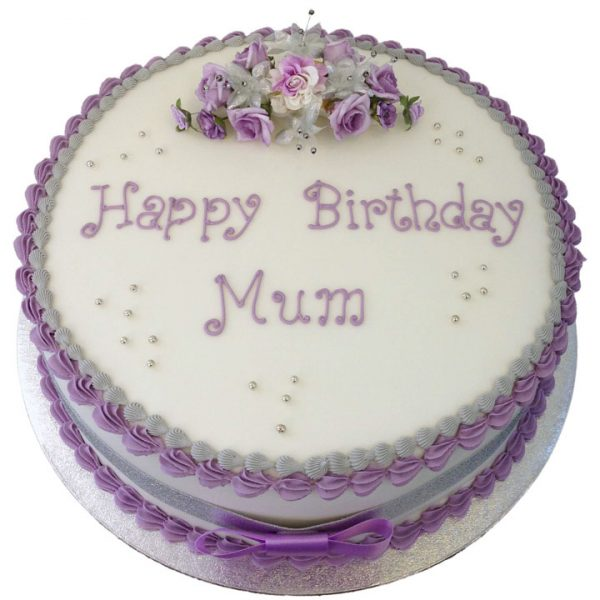 Traditional Flowers Birthday Cake