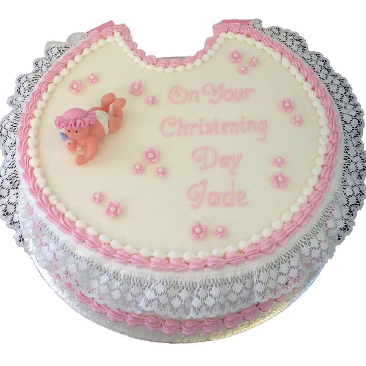 Bib Shaped Christening Cake
