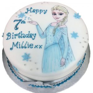 Hand Drawn Frozen Birthday Cake