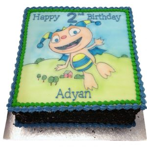 Hand Drawn Henry Hugglemonster Birthday Cake