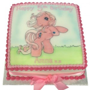 Hand Drawn My Little Pony Birthday Cake