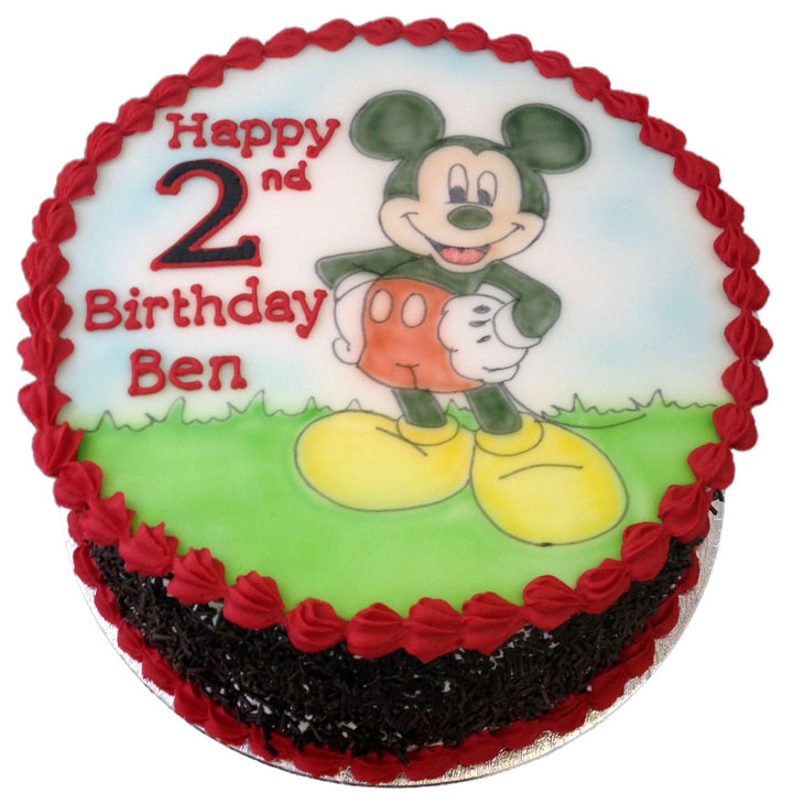 Hand Drawn Mickey Mouse Birthday Cake