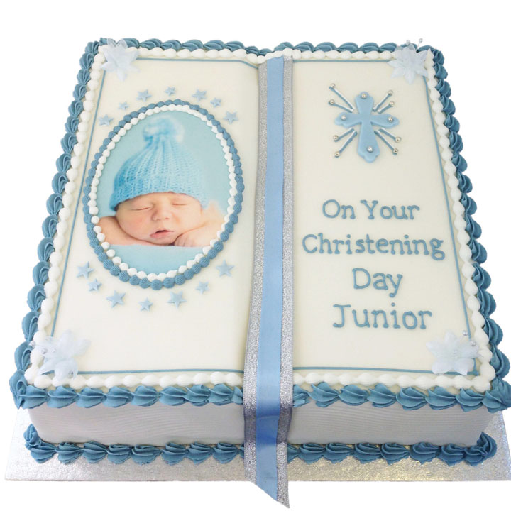 Book Shaped Cake with Your Own Photograph