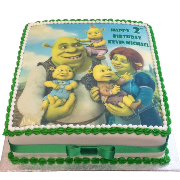 Miraculous Shrek Birthday Cake Flecks Cakes Funny Birthday Cards Online Elaedamsfinfo