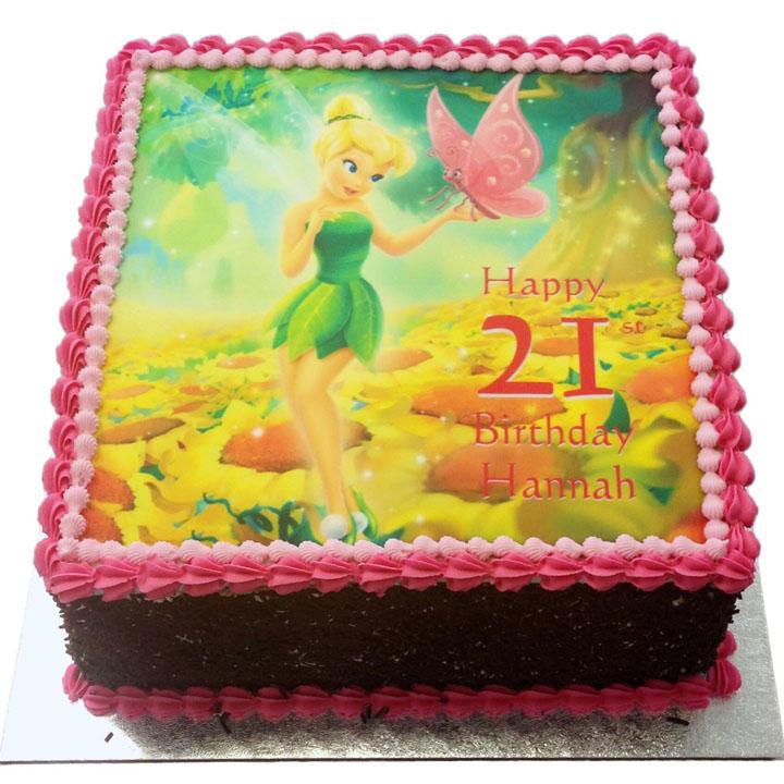 Enjoyable Tinkerbell Birthday Cake Flecks Cakes Funny Birthday Cards Online Alyptdamsfinfo