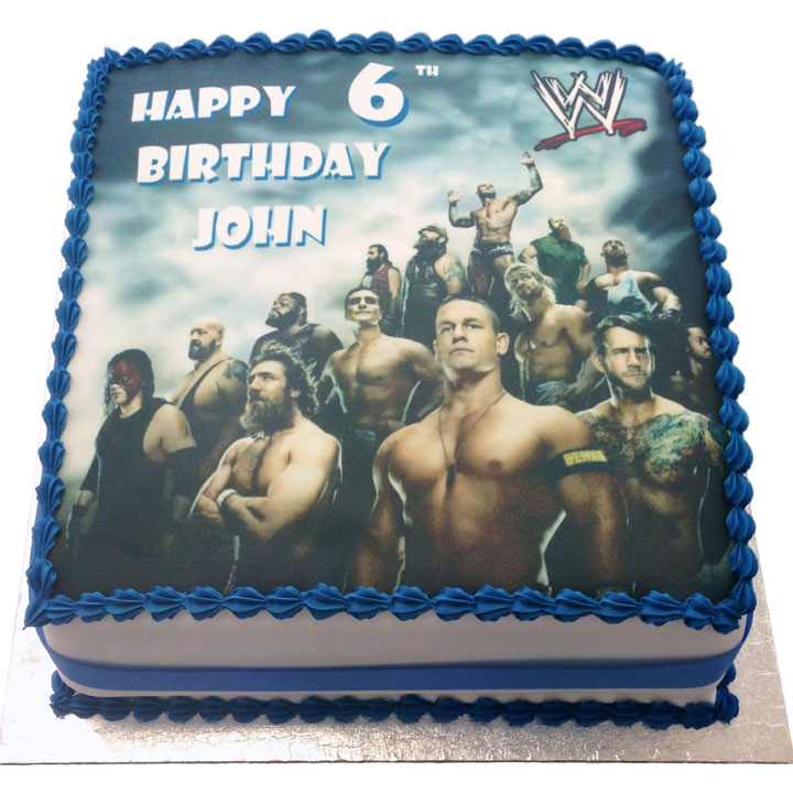 Incredible John Cena Cakes Flecks Cakes Personalised Birthday Cards Beptaeletsinfo