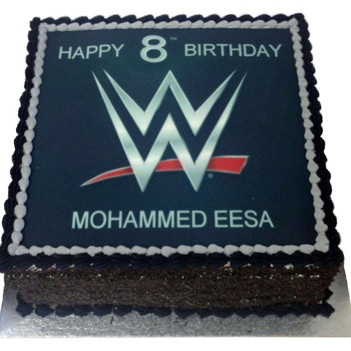 WWE Network Birthday Cake - Flecks Cakes