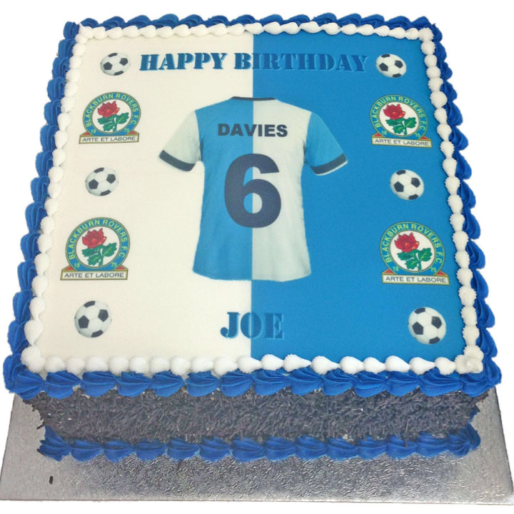 Blackburn Rovers Personalised Shirt Birthday Cake Flecks Cakes