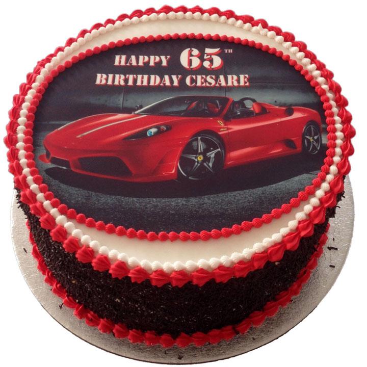 Red Ferrari Birthday Cake Flecks Cakes