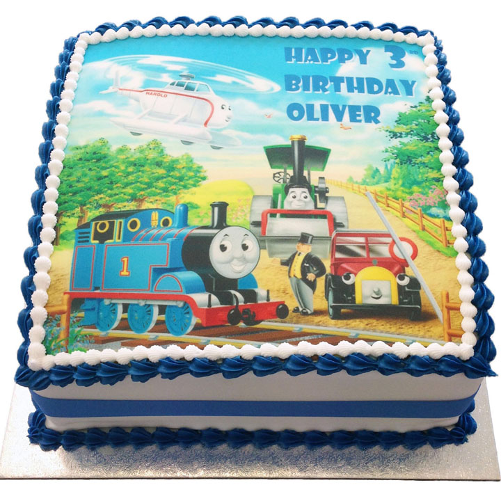 Prime Thomas And Friends Birthday Cake Flecks Cakes Funny Birthday Cards Online Fluifree Goldxyz