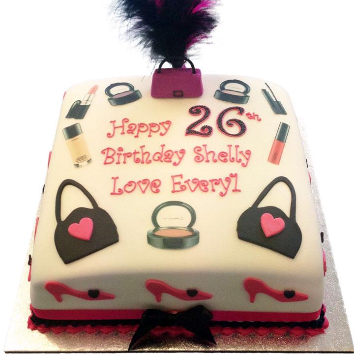 Handbags And Makeup Birthday Cake Flecks Cakes