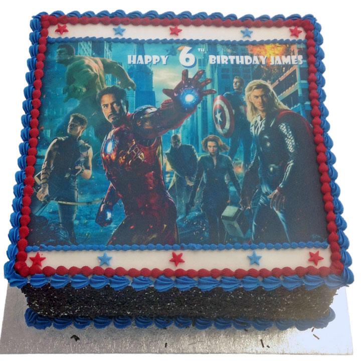 Brilliant Avengers Movie Birthday Cake Flecks Cakes Funny Birthday Cards Online Alyptdamsfinfo