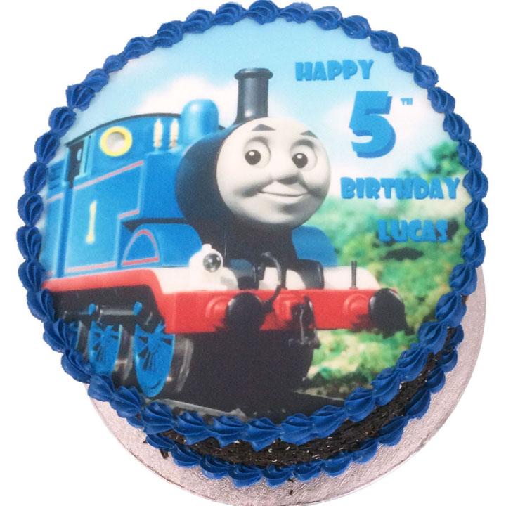 Groovy Thomas The Tank Engine Birthday Cake Flecks Cakes Personalised Birthday Cards Sponlily Jamesorg