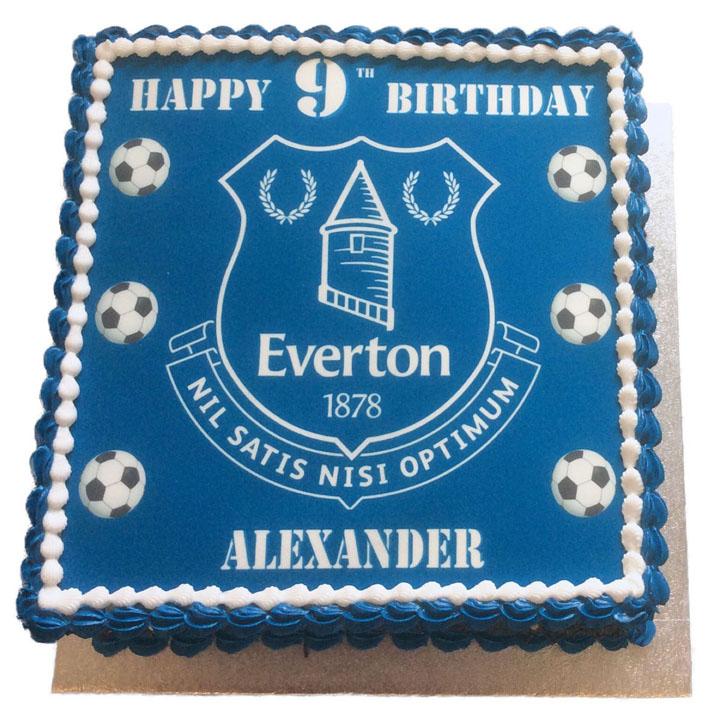 Everton Birthday Cake Flecks Cakes