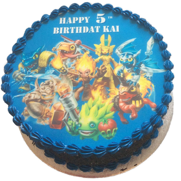 Stupendous Skylanders Birthday Cake Flecks Cakes Birthday Cards Printable Inklcafe Filternl