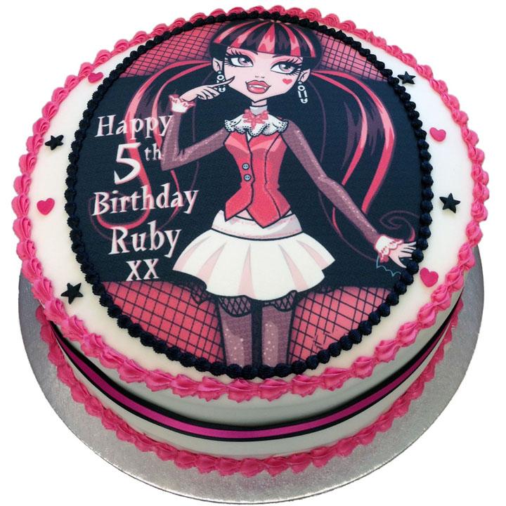 Wondrous Monsters High Birthday Cake Flecks Cakes Funny Birthday Cards Online Hendilapandamsfinfo