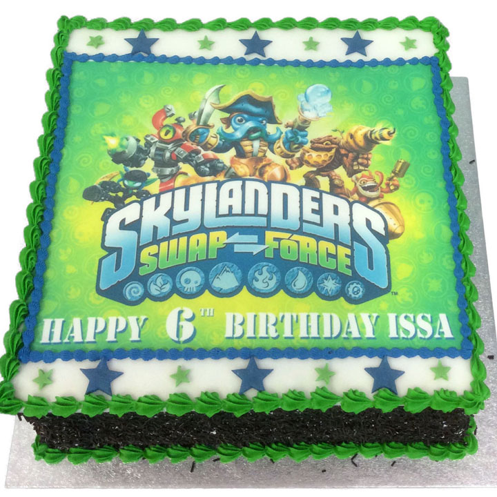 Brilliant Skylanders Birthday Cake Flecks Cakes Funny Birthday Cards Online Elaedamsfinfo