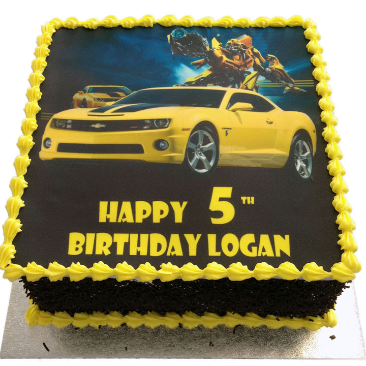 Excellent Bumblebee Transformers Birthday Cake Flecks Cakes Personalised Birthday Cards Paralily Jamesorg
