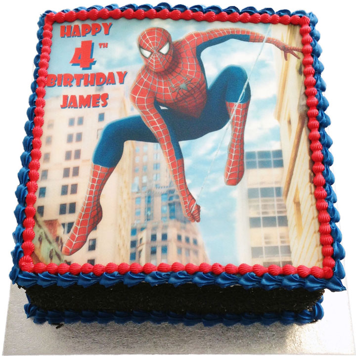 Awe Inspiring Spiderman Birthday Cake Flecks Cakes Personalised Birthday Cards Paralily Jamesorg