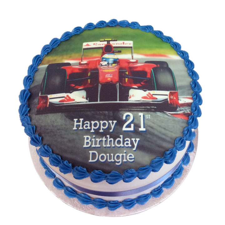 Admirable Formula One Birthday Cake Flecks Cakes Birthday Cards Printable Opercafe Filternl