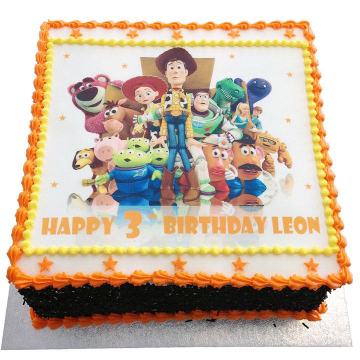 Superb Toy Story Birthday Cake Flecks Cakes Personalised Birthday Cards Veneteletsinfo