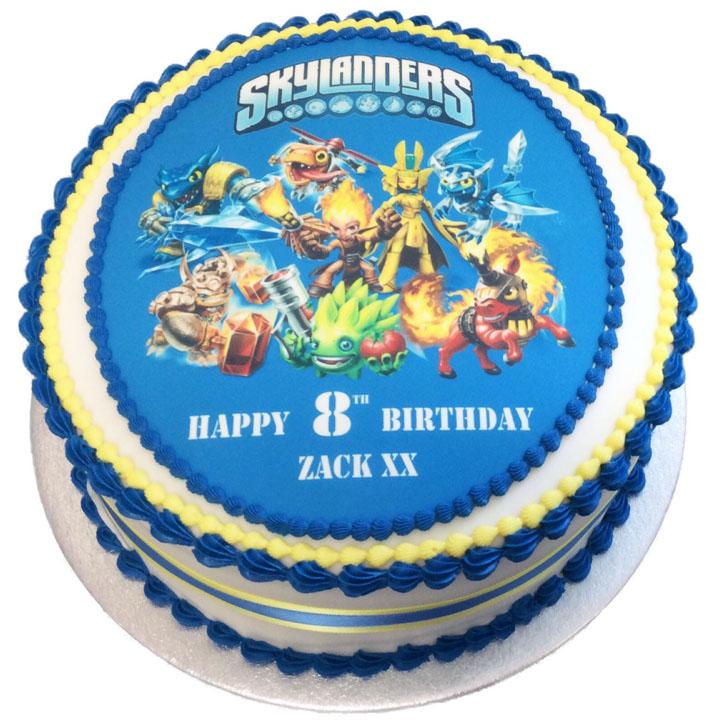 Strange Skylanders Birthday Cake Flecks Cakes Birthday Cards Printable Inklcafe Filternl