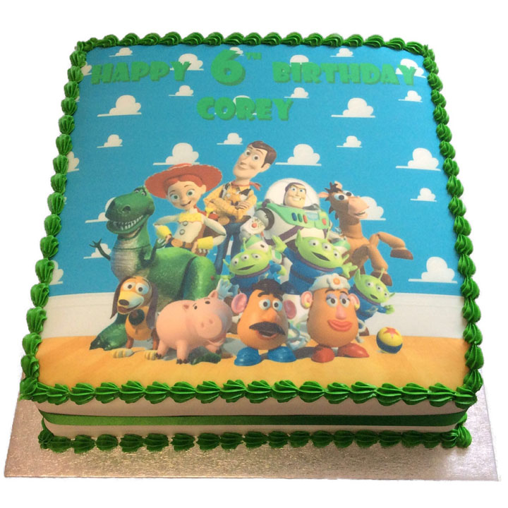 Incredible Toy Story Birthday Cake Flecks Cakes Personalised Birthday Cards Rectzonderlifede