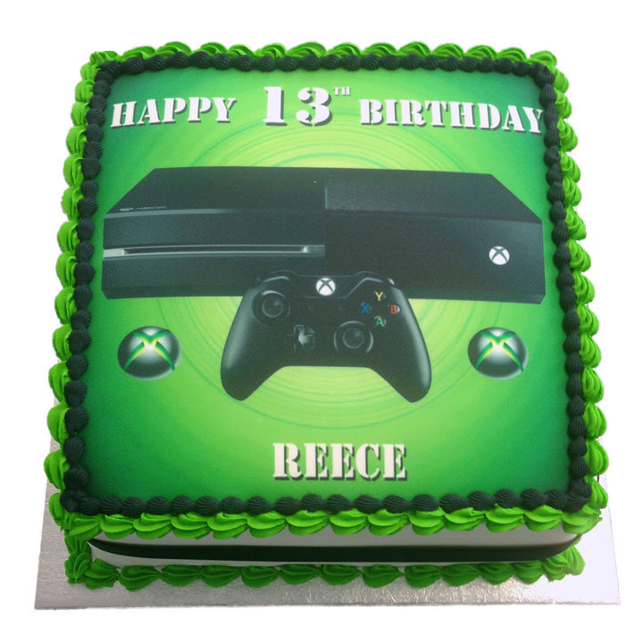 Xbox Birthday Cake Flecks Cakes