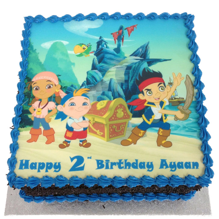 Awe Inspiring Jake And The Neverland Pirates Birthday Cake Flecks Cakes Funny Birthday Cards Online Inifodamsfinfo