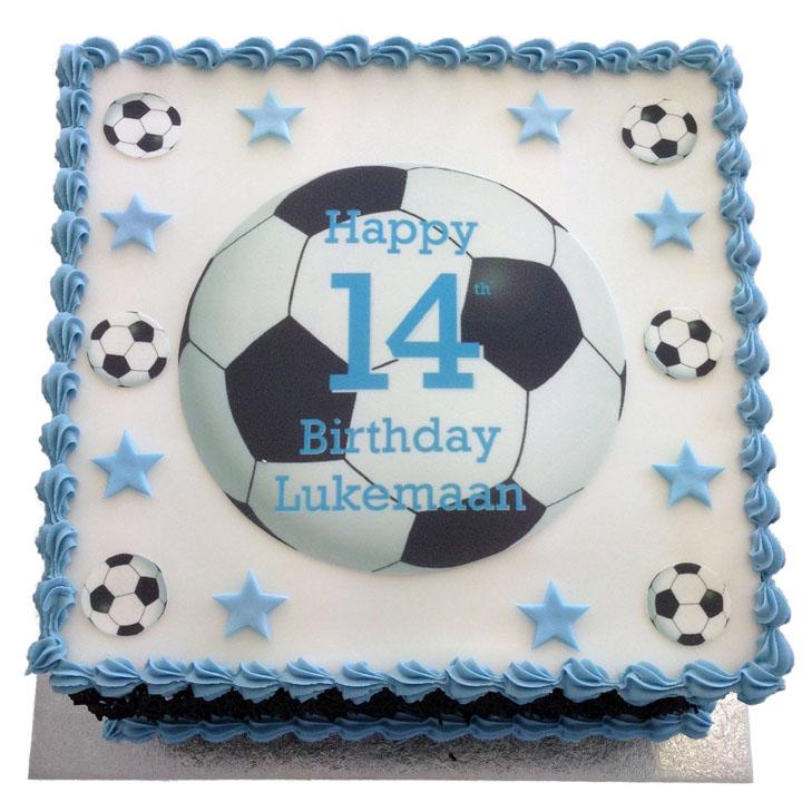 Wondrous Football Birthday Cake Flecks Cakes Personalised Birthday Cards Paralily Jamesorg