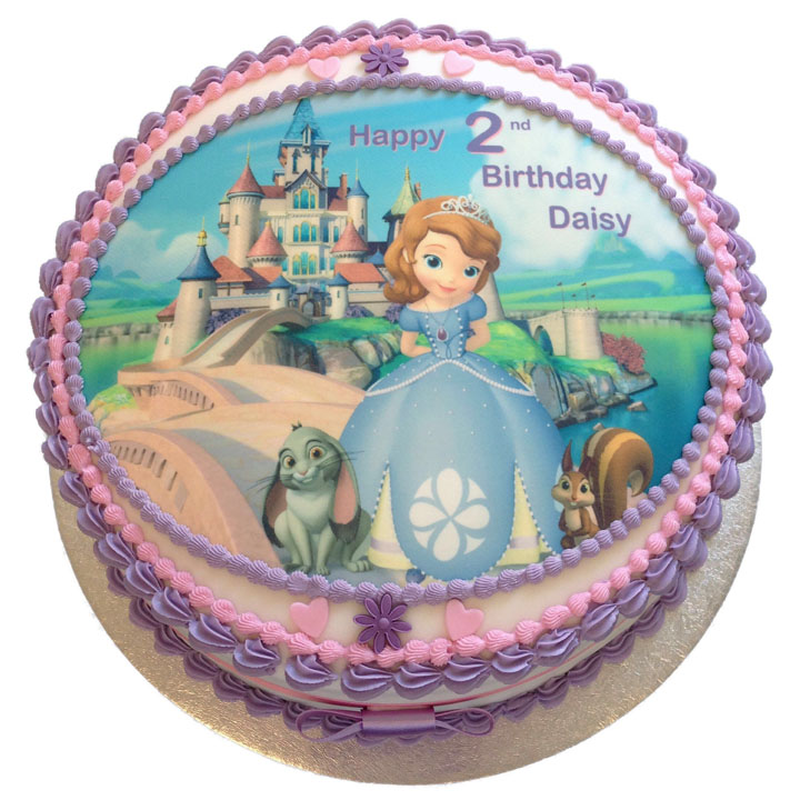 Groovy Sofia The First Birthday Cake Flecks Cakes Birthday Cards Printable Benkemecafe Filternl
