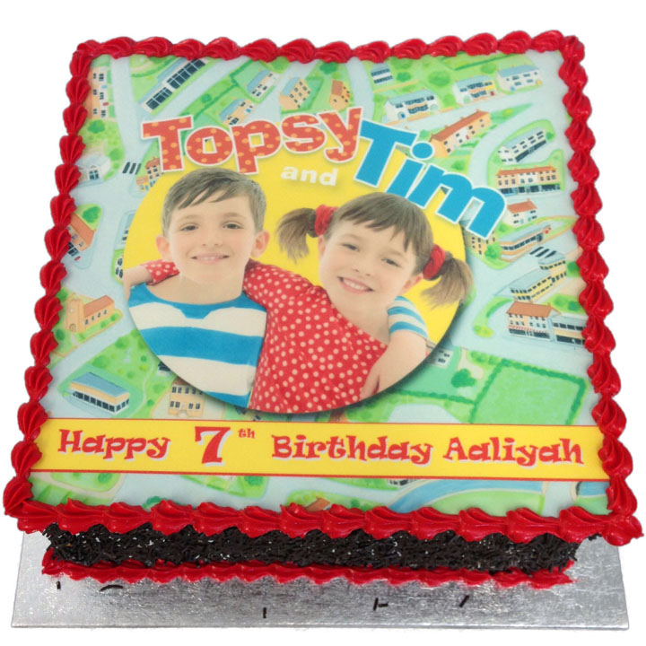 Topsy Amp Tim Birthday Cake Flecks Cakes