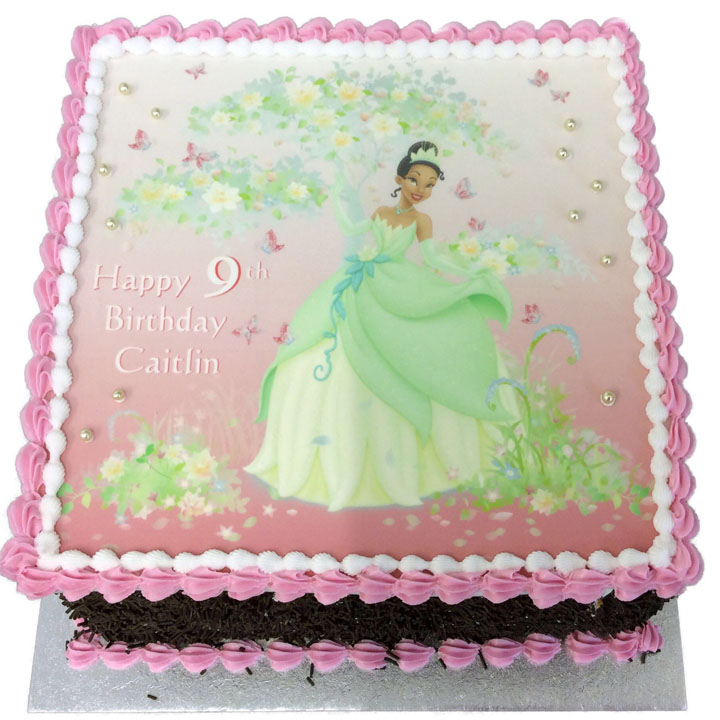 Excellent Princess Tiana Birthday Cake Flecks Cakes Funny Birthday Cards Online Aeocydamsfinfo