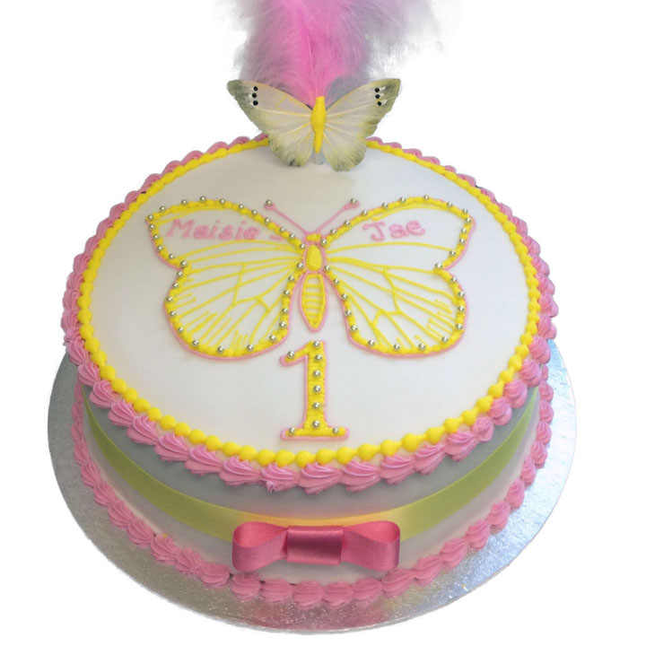 Enjoyable Butterfly Birthday Cake Flecks Cakes Funny Birthday Cards Online Necthendildamsfinfo