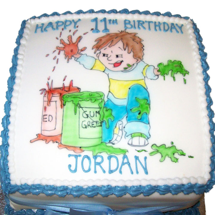Happy Birthday Henry Golf Cake