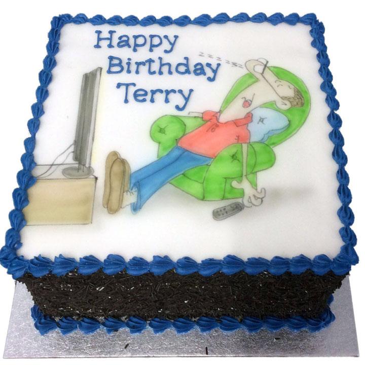Male Birthday Cake Flecks Cakes